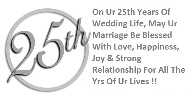 25 Th Marriage Anniversary Wishes