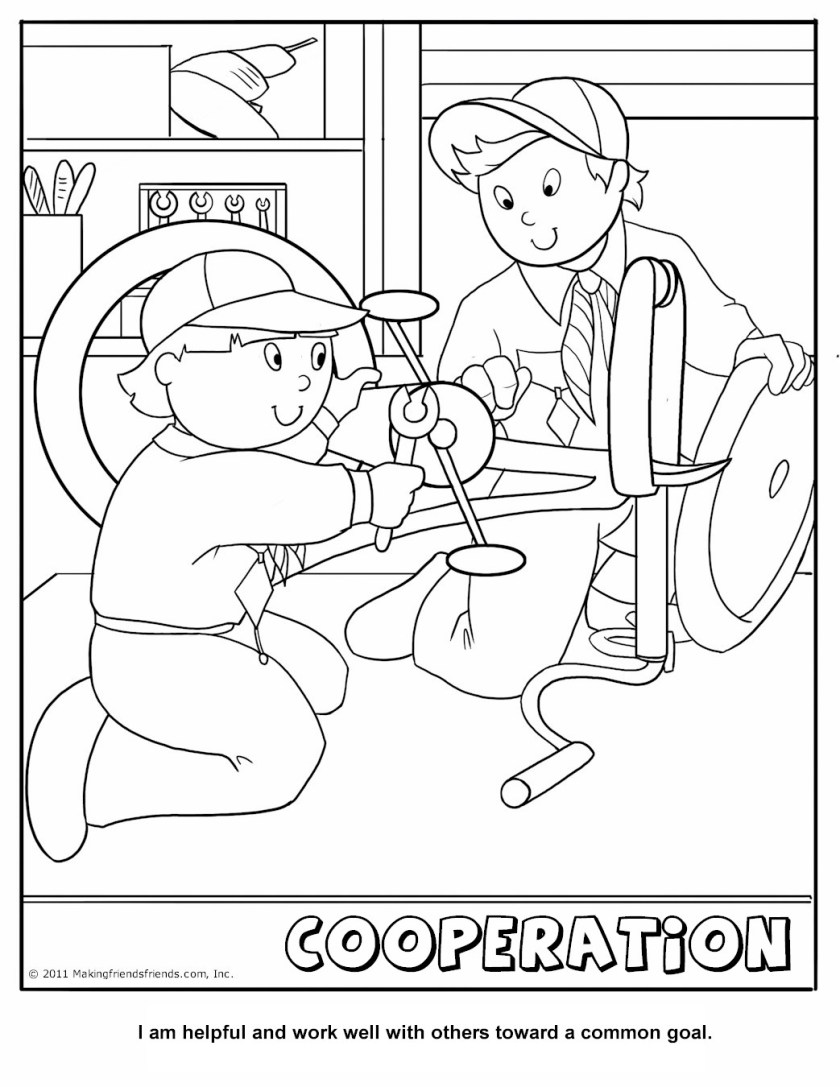 self control coloring pages for kids  virtues is working
