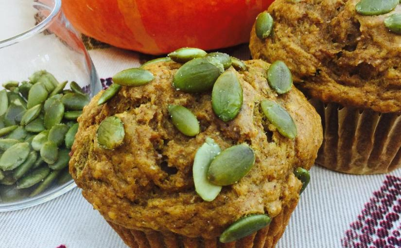 Pumpkin Muffins on a table