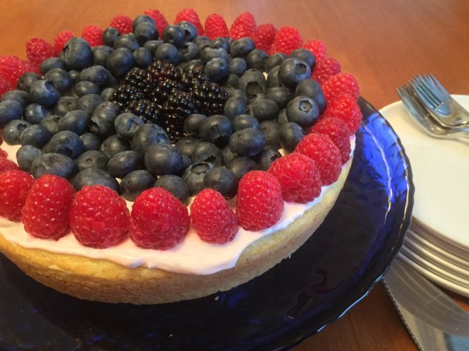 Lemon Ricotta Cake with Fresh Berries