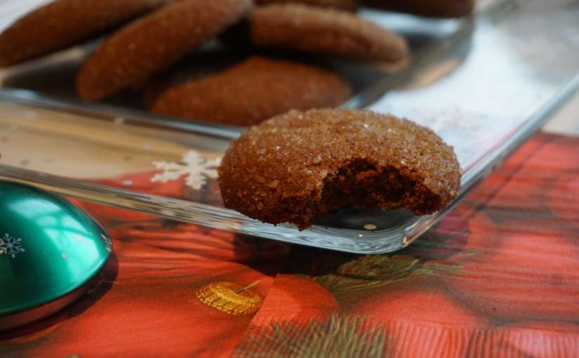 Molasses Gingerbread Cookies with Sprouted Spelt Flour