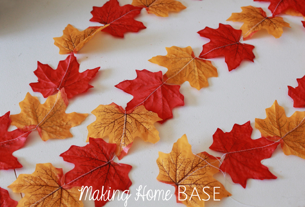 Fall Garland by Making Home Base