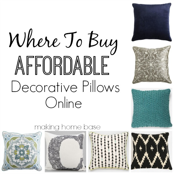 where to buy cheap throw pillows for