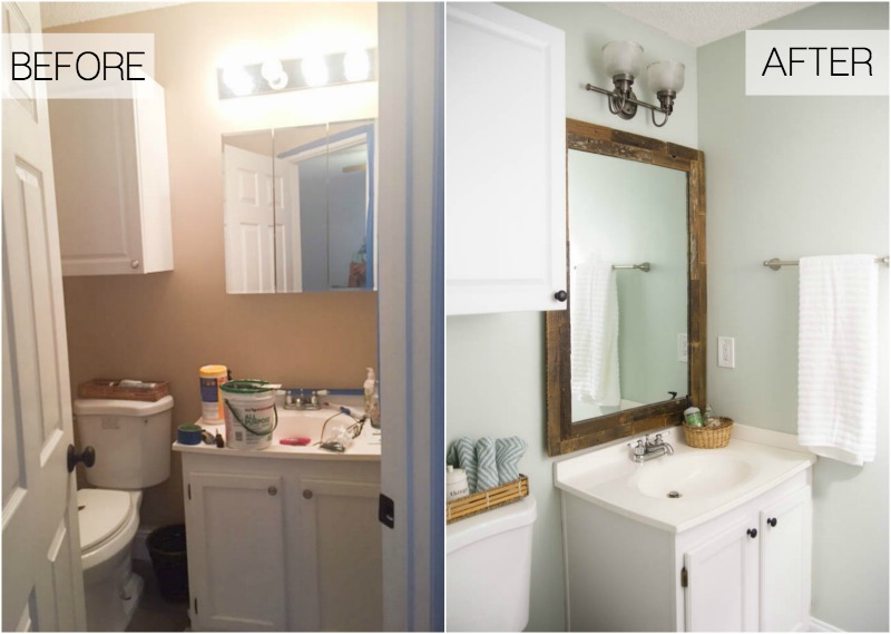 beachy budget friendly bathroom makeover - making home base