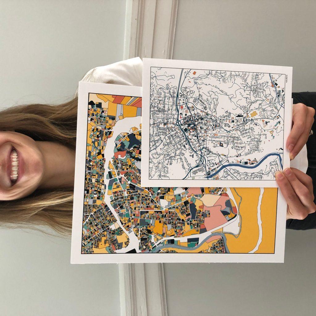 ParMar Asheville Map Prints