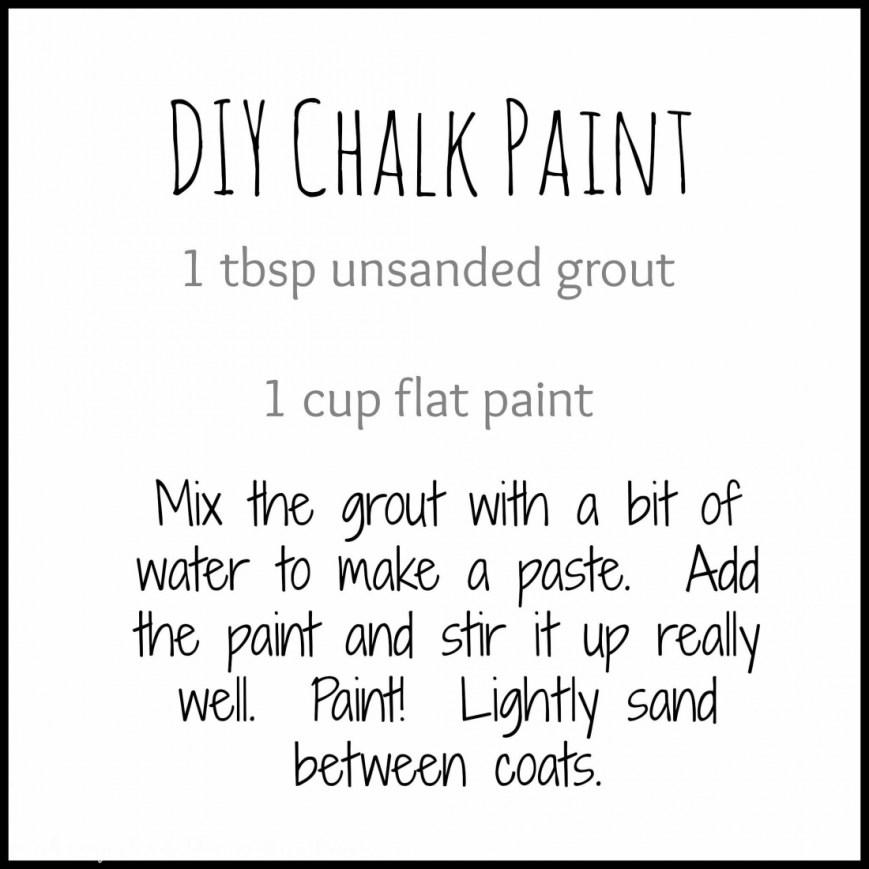 DIY Chalk Paint Recipe | www.makingitinthemountains.com