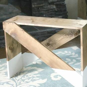 You won't believe how easy it is to build your own custom DIY end tables! | www.makingitinthemountains.com