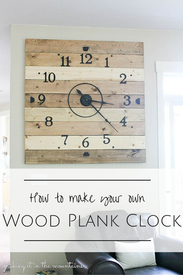 At 4ft Square, This Rustic DIY Clock Canu0027t Help But Make A BIG