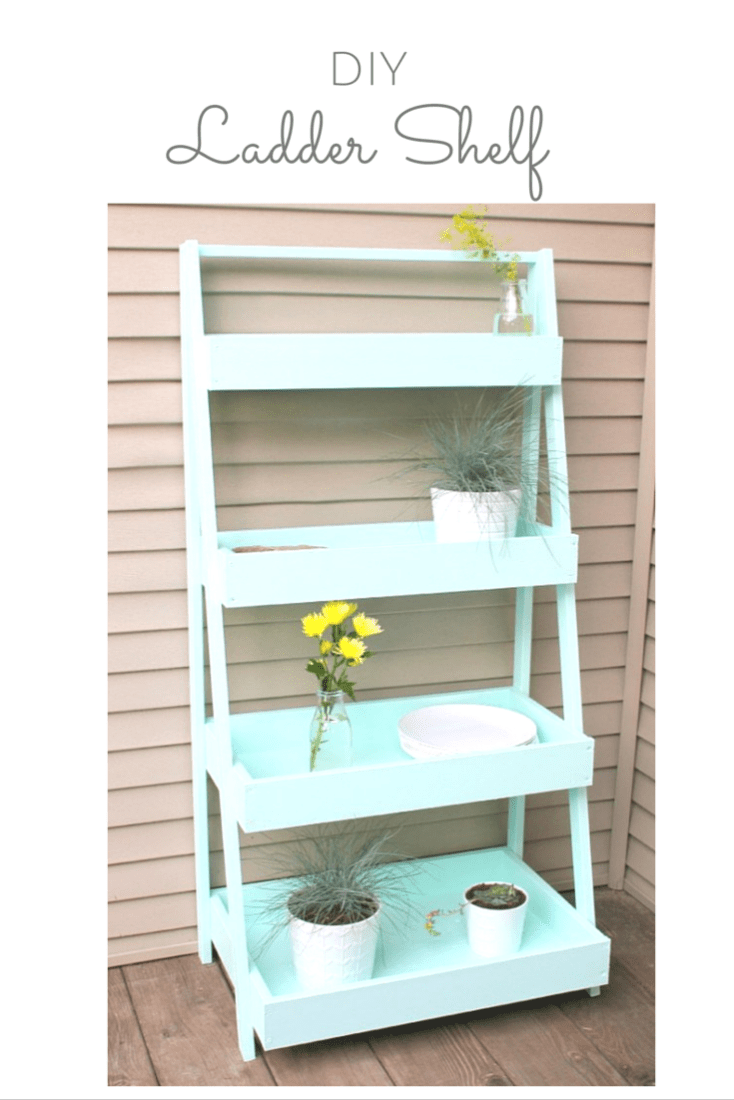 You won't believe how simple this DIY Ladder Shelf was to make and there are SO many ways to put it to work!