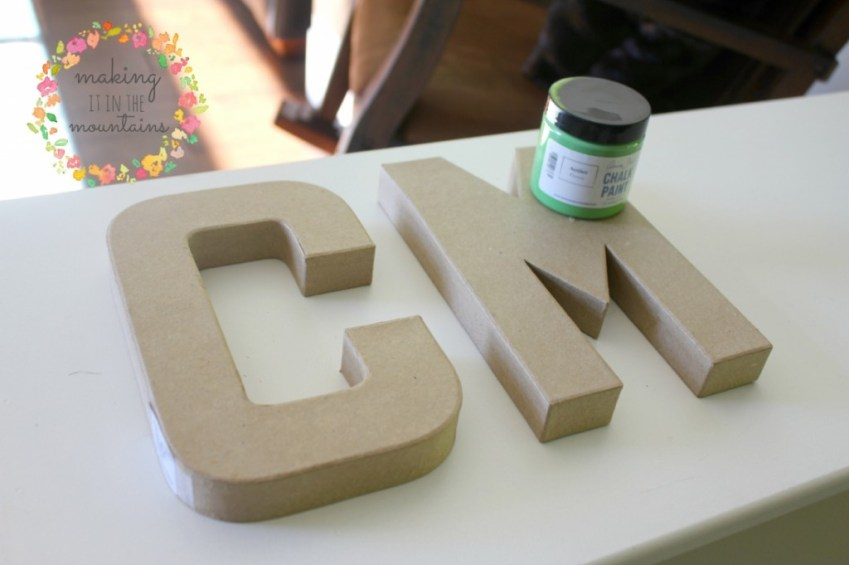 DIY Letters @ making it in the mountains