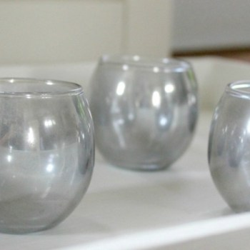 DIY Mirrored Glass Tea-Light Holders