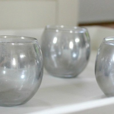 Outdoor Makeover Challenge – Week 3: DIY Mirrored Glass Candle Holders