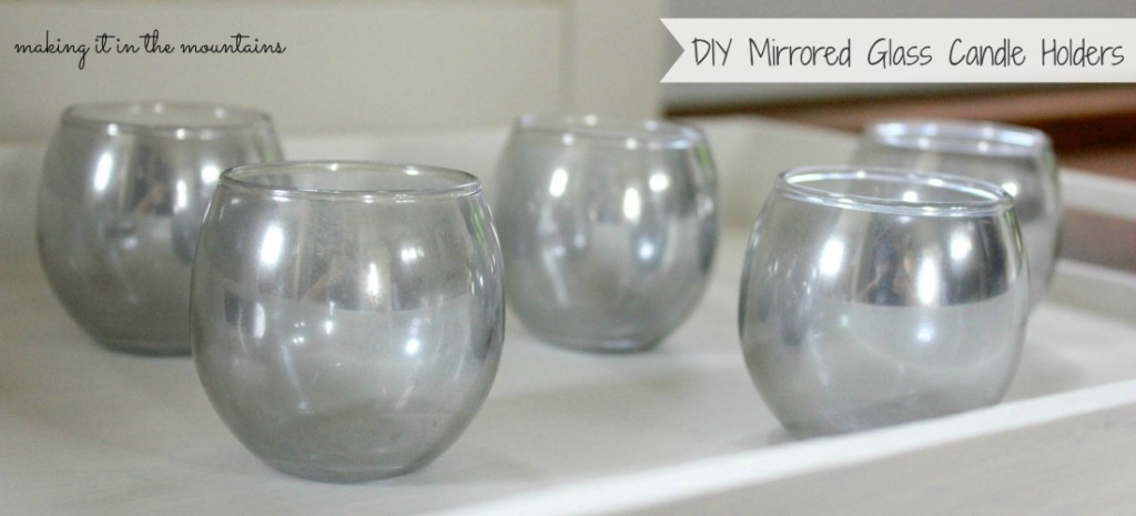diy mirrored glass candle holders. Black Bedroom Furniture Sets. Home Design Ideas