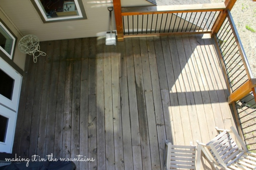 Deck Makeover - Before @ making it in the mountains