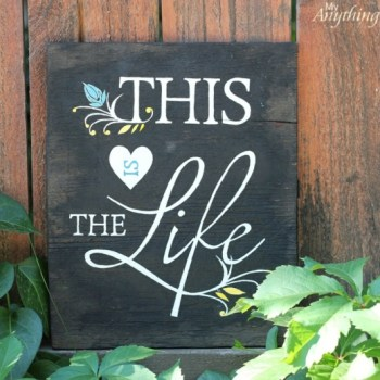 DIY Wood Sign :: makng it in the mountains