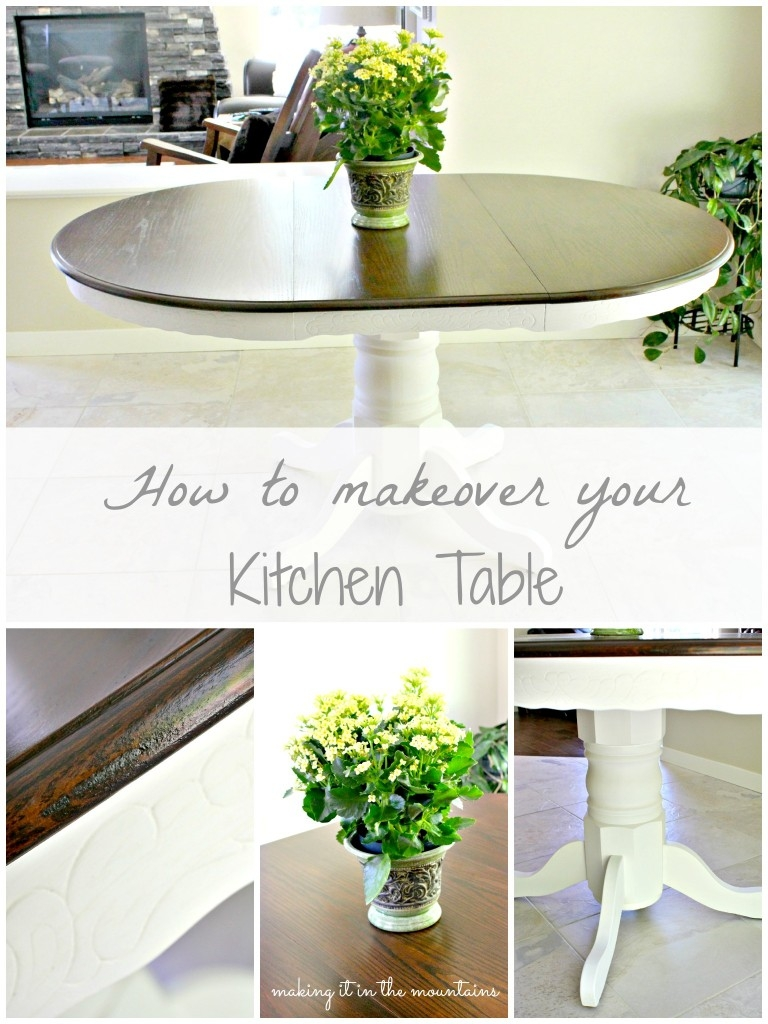 How to Makeover your Kitchen Table :: making it in the mountains