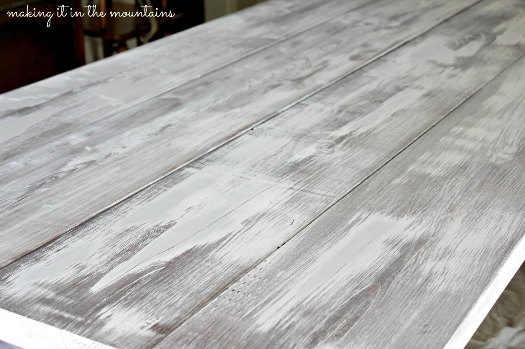 How To Whitewash Wood Making Over Our Pottery Barn Inspired Table Making It In The Mountains