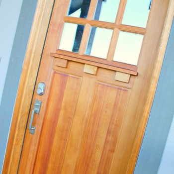 Front Door Makeover with Danish Oil :: making it in the mountains