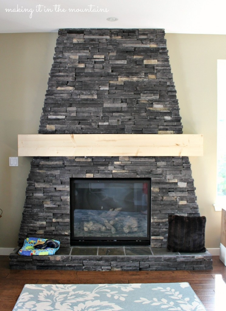 Check out how we made our very own Fireplace Mantel for less than $25!