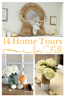 14 Inspirational Fall Home Tours #falldecor #fallhometour