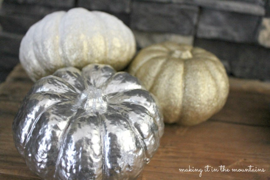 Painted Pumpkins : making it in the mountains #falldecor #pumpkins #fall