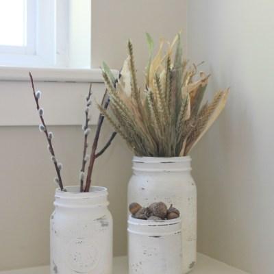 {All Things Fall} :: Chalk Painted Mason Jars