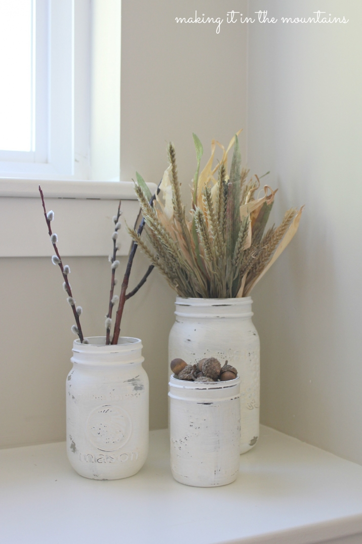 Chalk Painted Mason Jars :: making it in the mountains