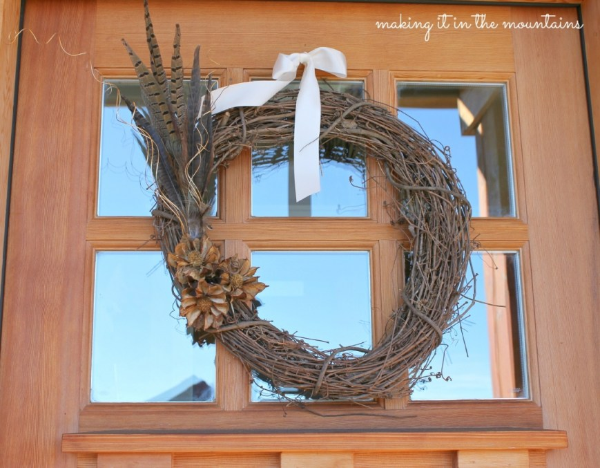 DIY Rustic Fall Wreath :: making it in the mountains