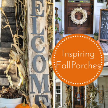 Inspiring Fall Porches :: making it in the mountains #fallporch #falldecor