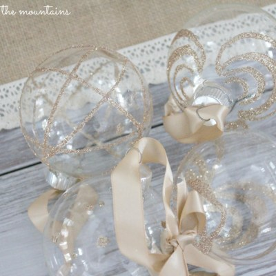 Handmade Glittery Clear Glass Ornaments – Monthly DIY Challenge