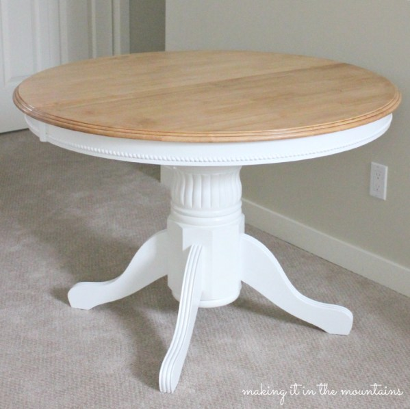 Light And Bright Kitchen Table Makeover :: Guest Post