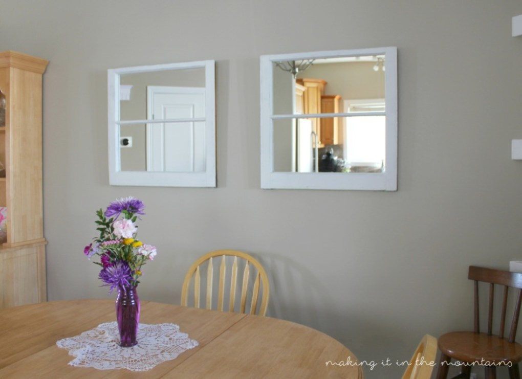 Vintage Window Mirrors - making it in the mountains