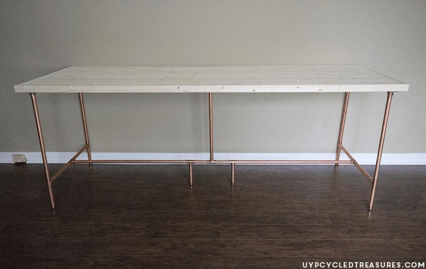 DIY Copper Desk