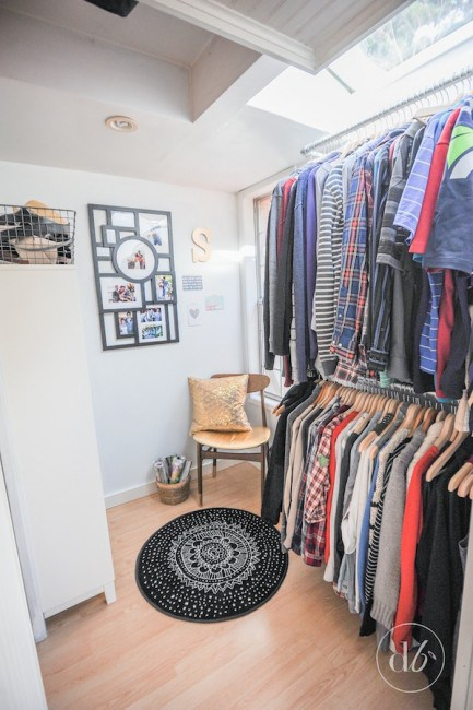 Master Bedroom Closet made from Pipes