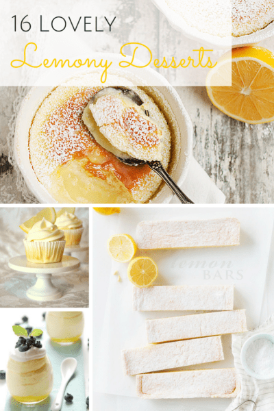 16 Lovely Lemony Desserts that would be SO {perfect} for Summer!  Each and every one of these dishes is sure to get your mouth watering with beautiful photos that look absolutely delish!