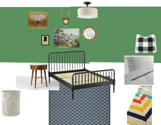 Vintage Boy Bedroom Makeover