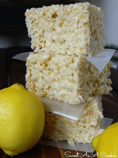 Lemon Rice Krispie Squares