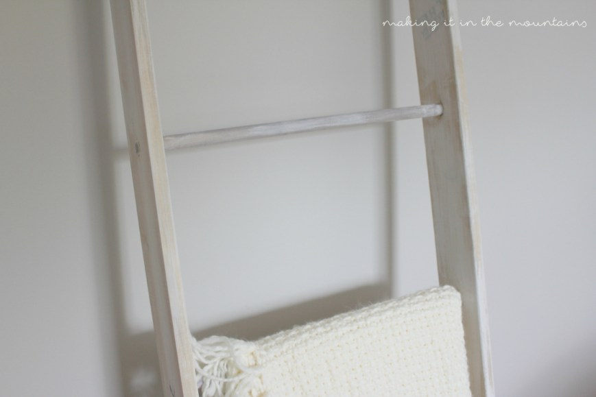 Mother's Day Gift {DIY Blanket Ladder}   making it in the mountains