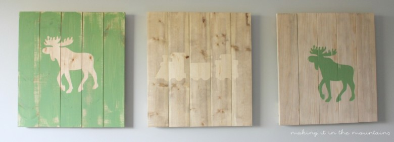 Rustic DIY Plank Art   making it in the mountains