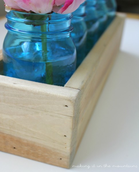 Scrap Wood and Mason Jar Planter Box | making it in the mountains