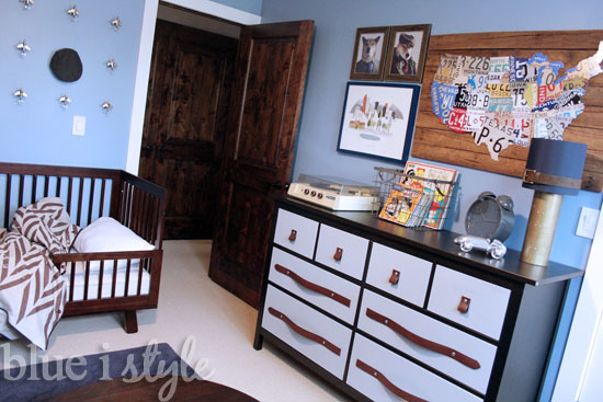 Vintage Preppy Boy's Room