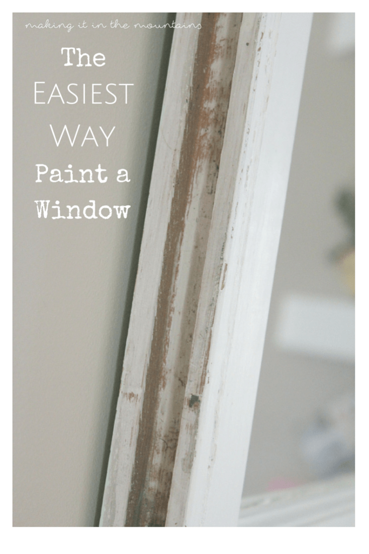 Who knew painting a window could be so easy?!