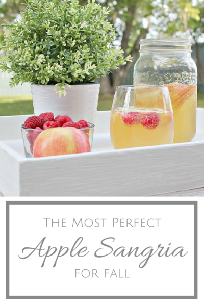 Love Sangria? Then this one's for you! Made with sweet Moscato wine mixed with hints of vanilla and apple, this really is The Most Perfect Apple Sangria!!!