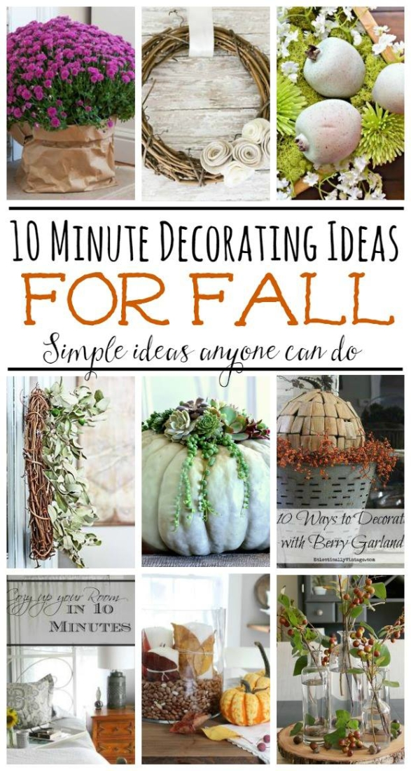 10 Minute Decorating Ideas for Fall