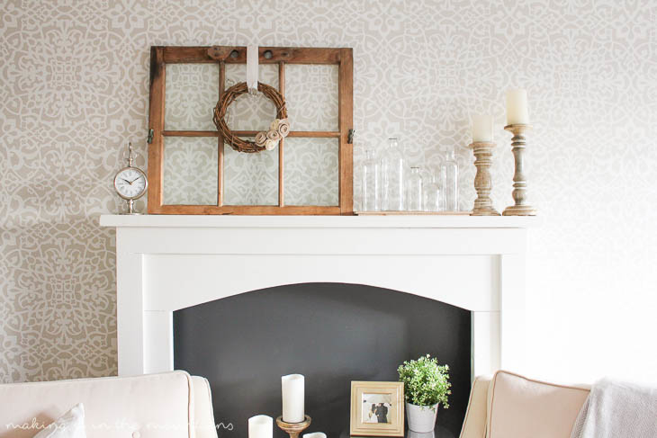This DIY Faux Fireplace is sure to bring cozy character to any room!