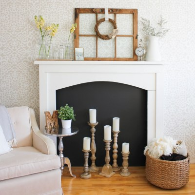 How to Style a Fireplace in Four Simple Steps