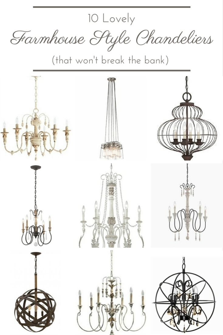 These lovely farmhouse style chandeliers are not only gorgeous, but at less than $500, even the price is sure to leave you swooning!