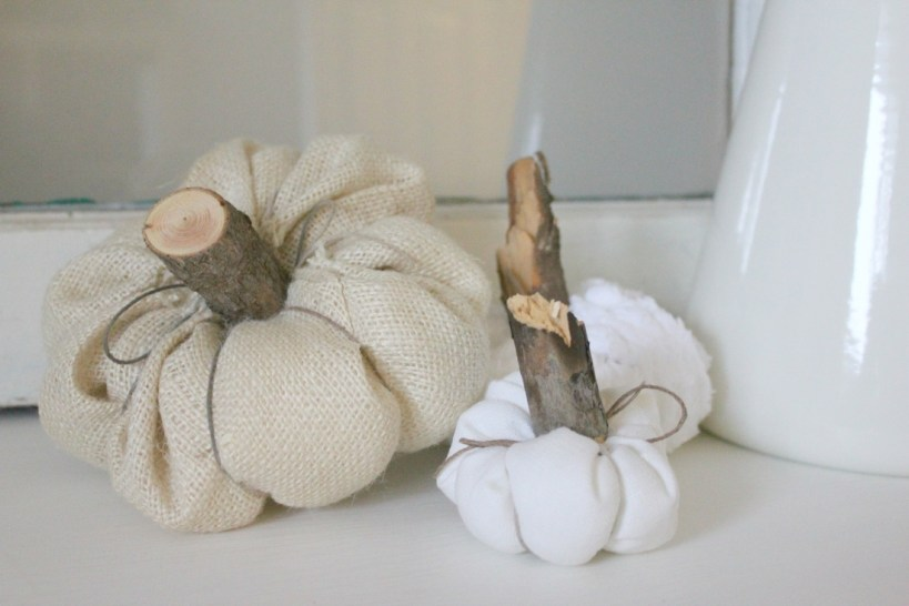 You won't believe how quick and easy these sweet little fabric pumpkins were to make!