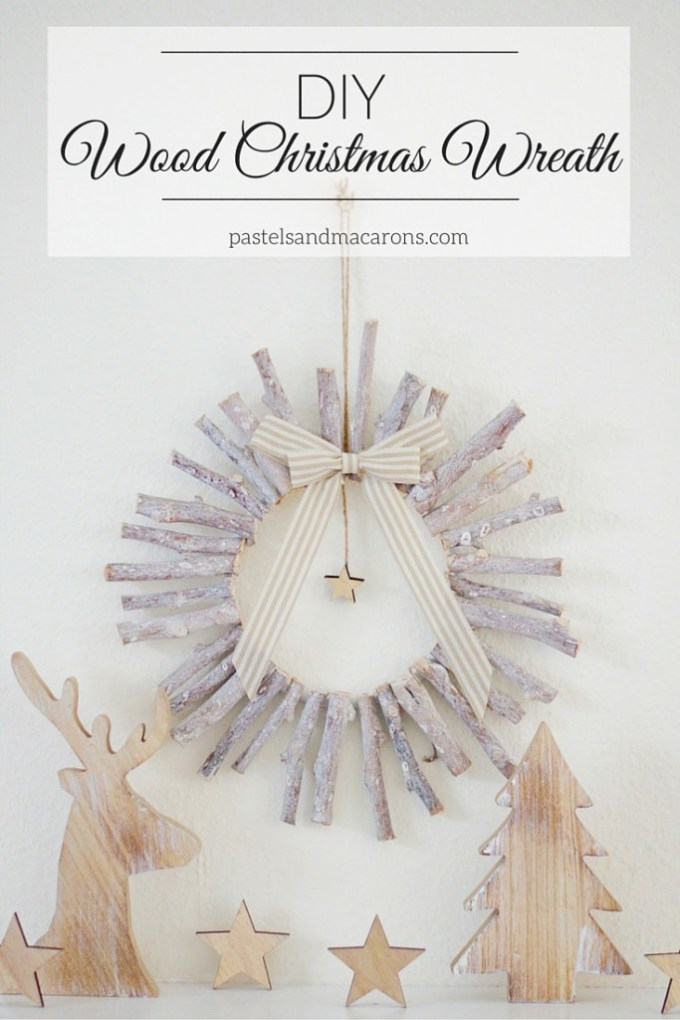 This lovely DIY Wood Christmas Wreath is not only beautiful, but it's so simple to make!