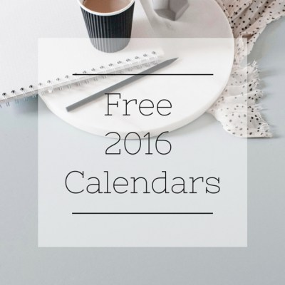 12 Free 2016 Calendars to get you Organized for the New Year